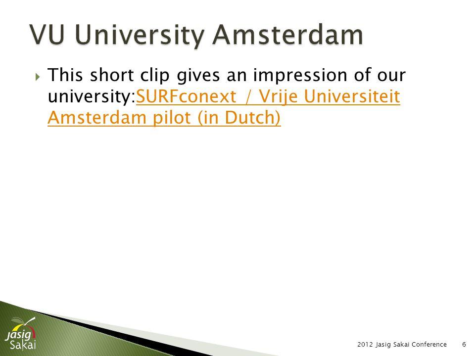  Content of slide 2012 Jasig Sakai Conference27