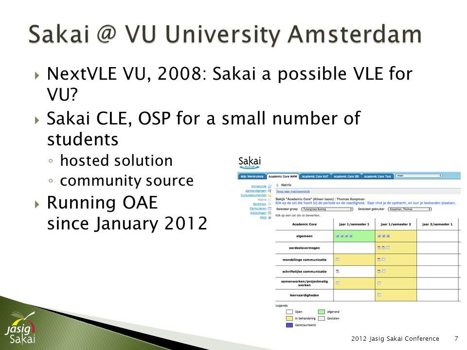  Content of slide 2012 Jasig Sakai Conference38
