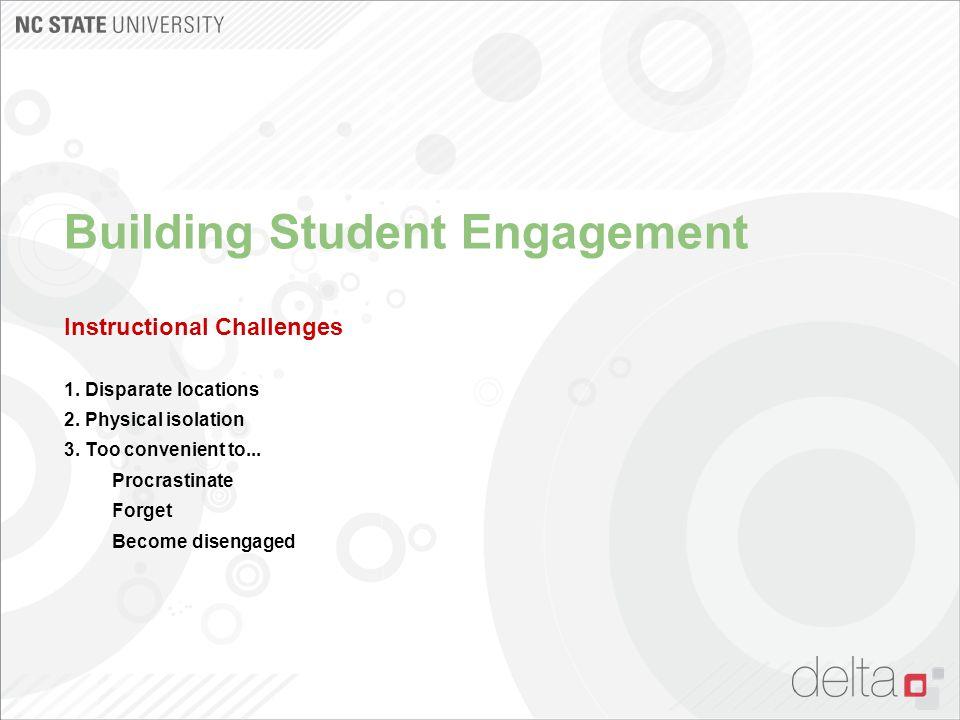 Building Student Engagement Instructional Challenges 1.