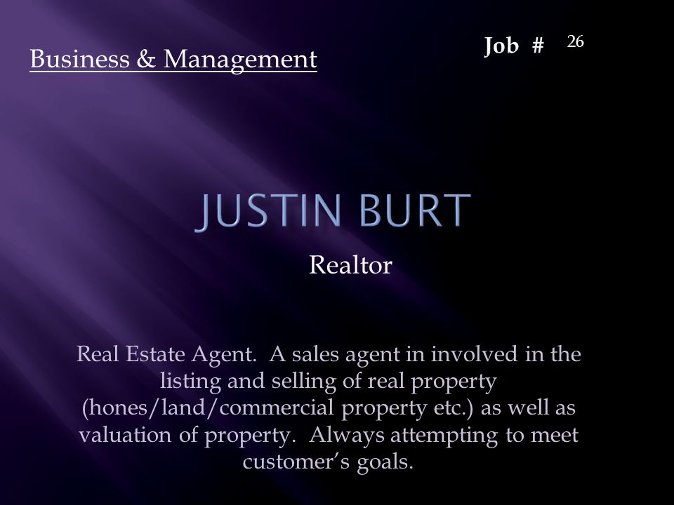 Realtor Business & Management 26 Real Estate Agent.