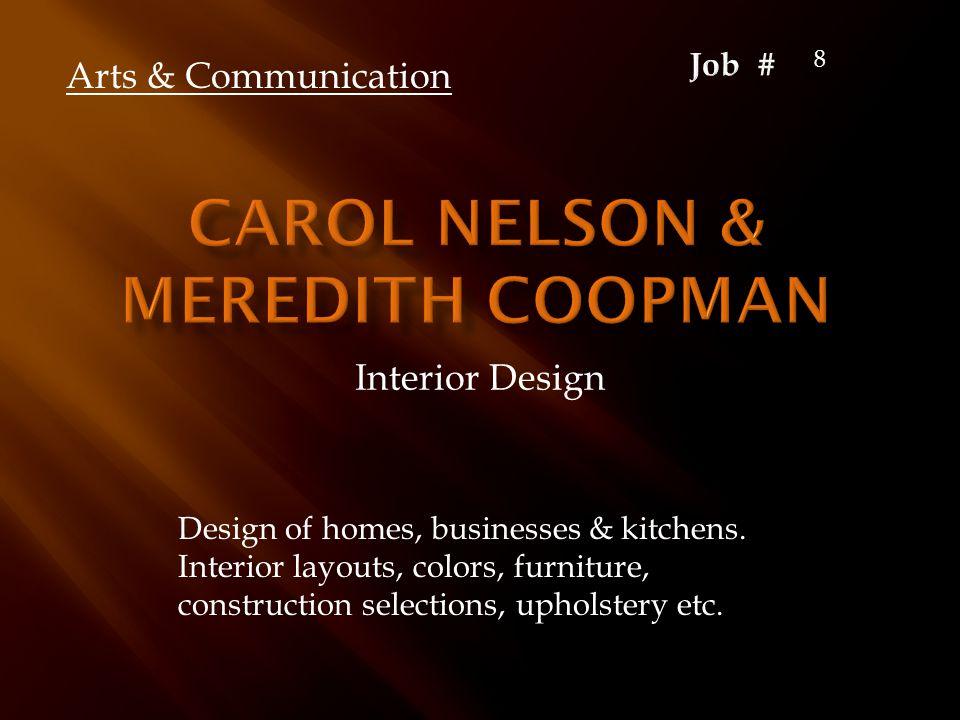 Interior Design Arts & Communication Design of homes, businesses & kitchens.