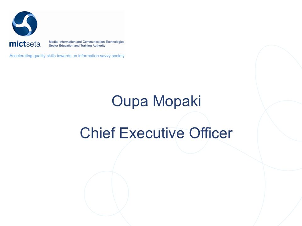 Oupa Mopaki Chief Executive Officer