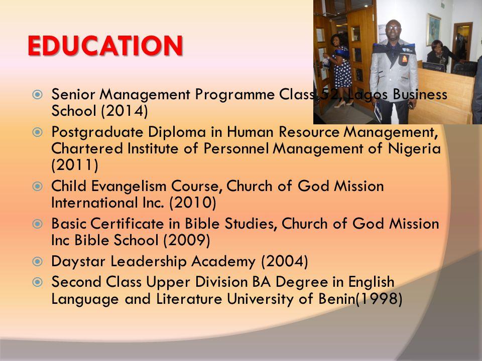 MY MENTORS  Pastor McAbraham Inajoh, Church of God Mission Inc.