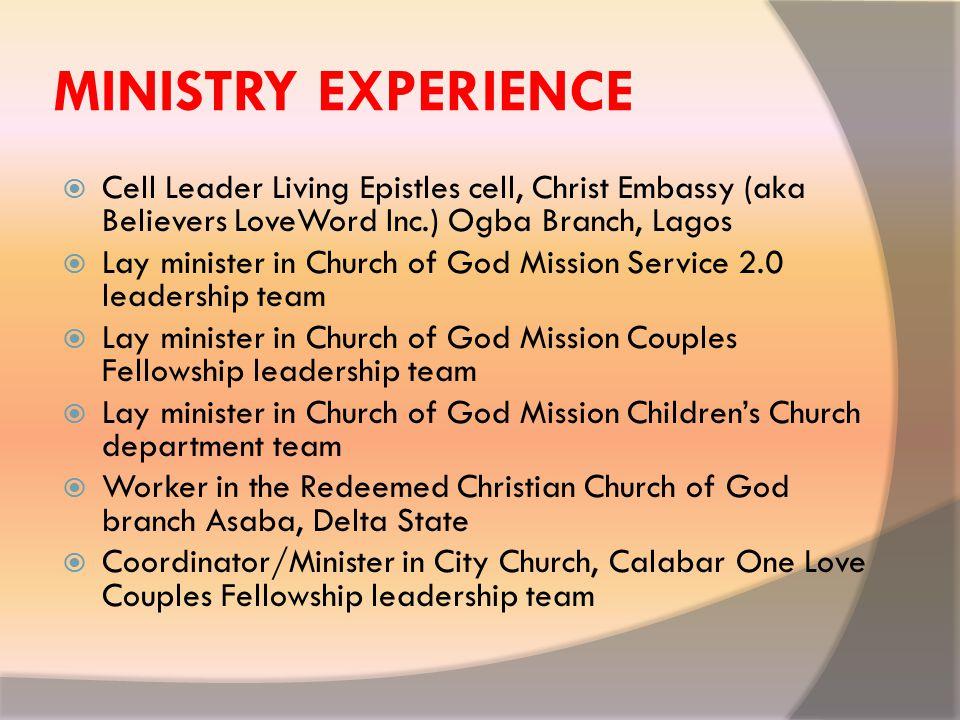 MY MENTORS  Pastor Femi Monehin, God's Favorite House, Lekki Lagos.