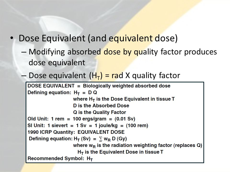 Deep Dose Equivalent Eye Dose Equivalent Shallow Dose Equivalent – Whole Body Shallow Dose Equivalent – Skin of Extremity Committed Effective Dose Equivalent Committed Dose Equivalent Total Effective Dose Equivalent Total Organ Dose Equivalent No Record – No PSE.