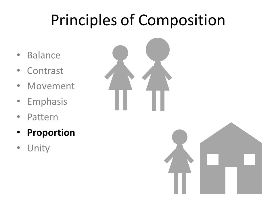 Principles of Composition Balance Contrast Movement Emphasis Pattern Proportion Unity