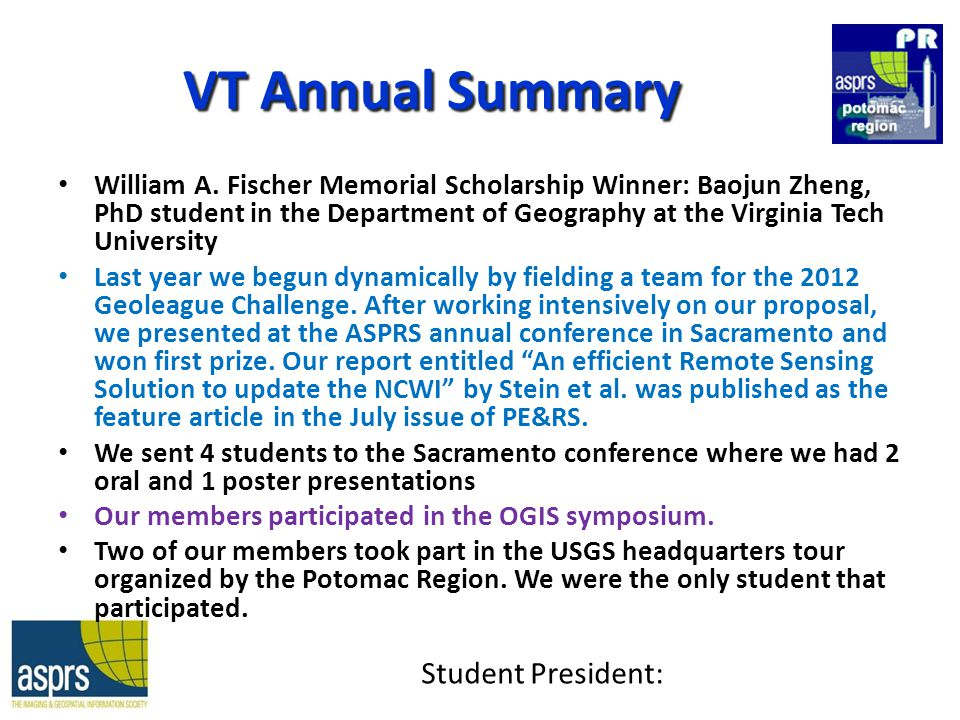 VT Annual Summary William A.