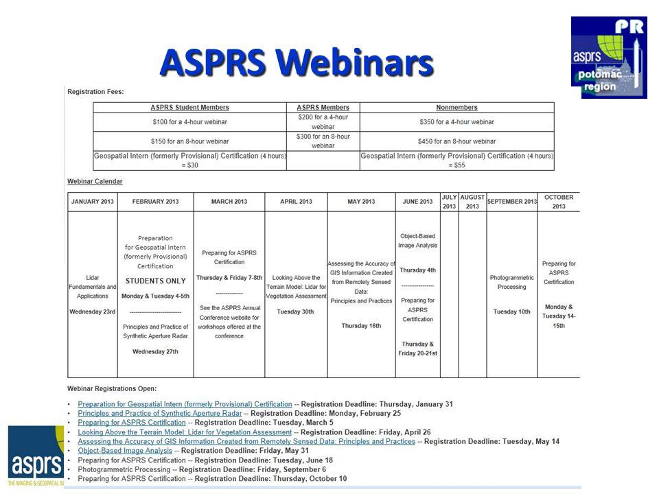 ASPRS Webinars