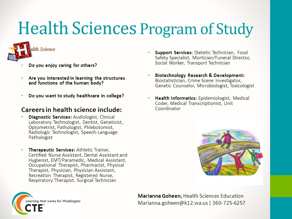 Health Sciences Program of Study Do you enjoy caring for others.