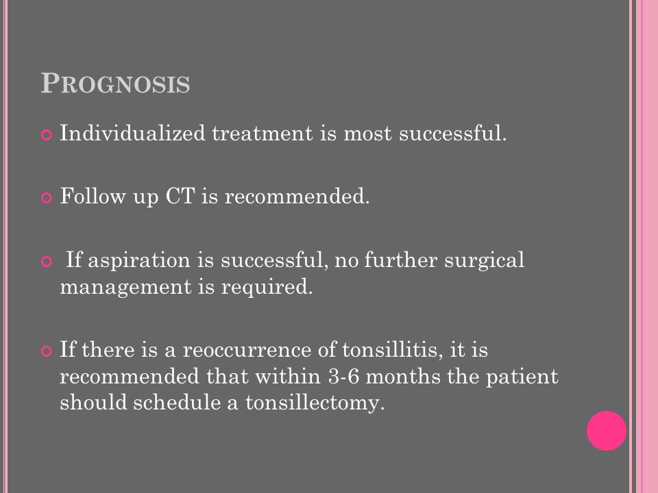 P ROGNOSIS Individualized treatment is most successful.