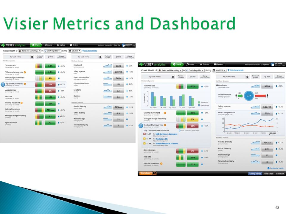 30 Visier Metrics and Dashboard