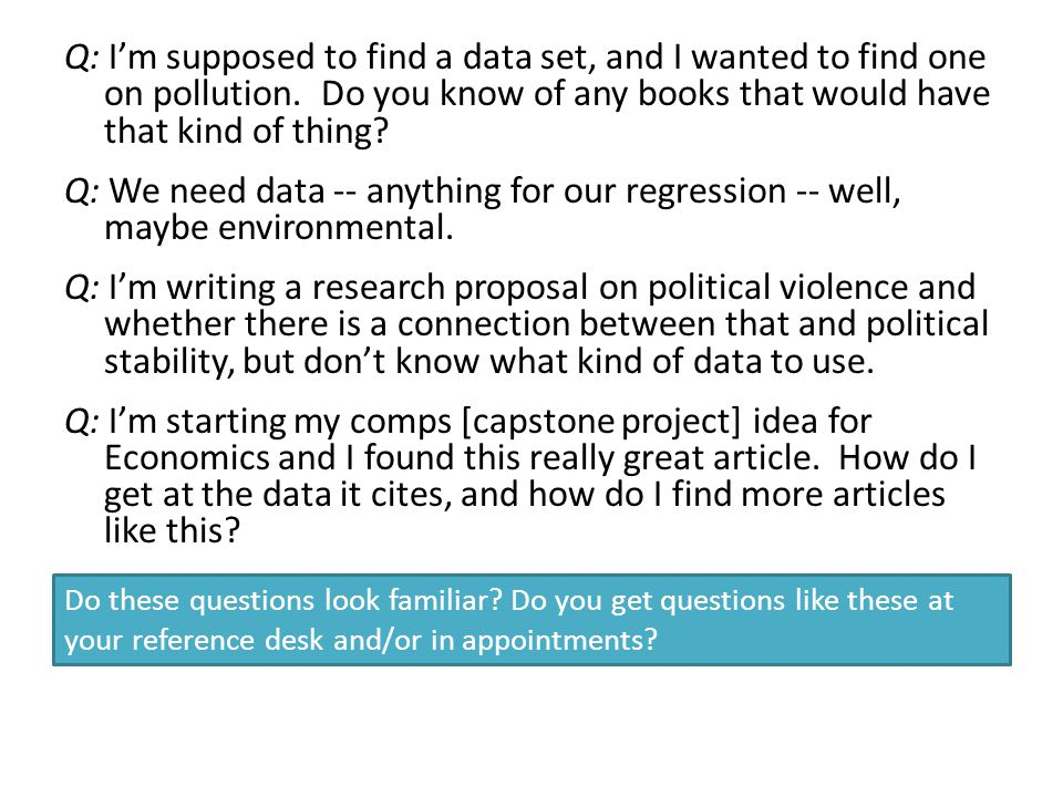 Q: I'm supposed to find a data set, and I wanted to find one on pollution.