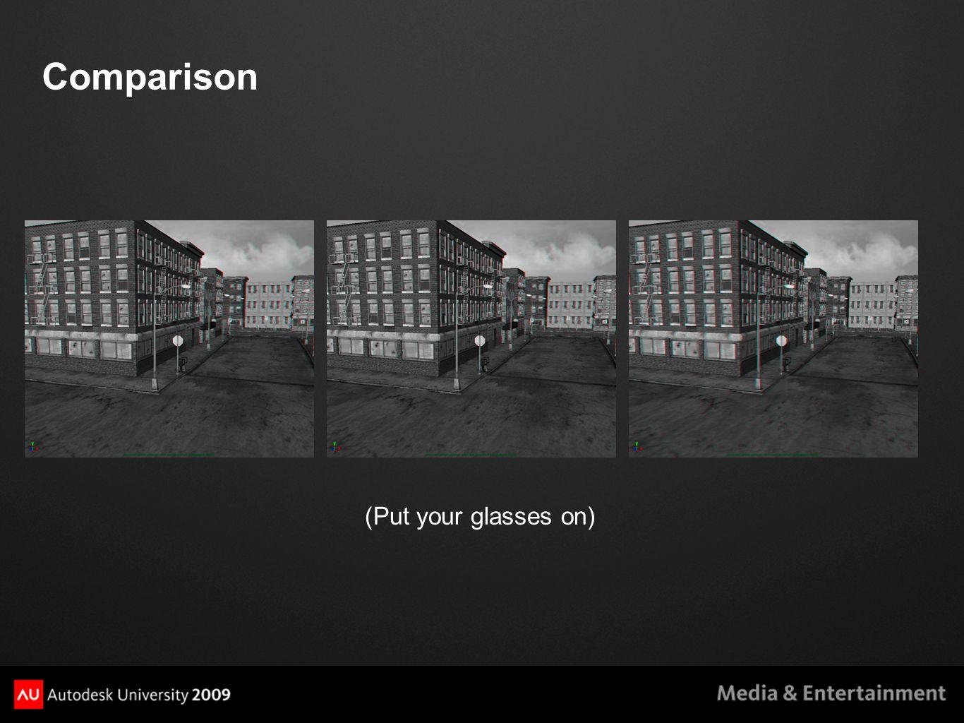 Comparison (Put your glasses on)