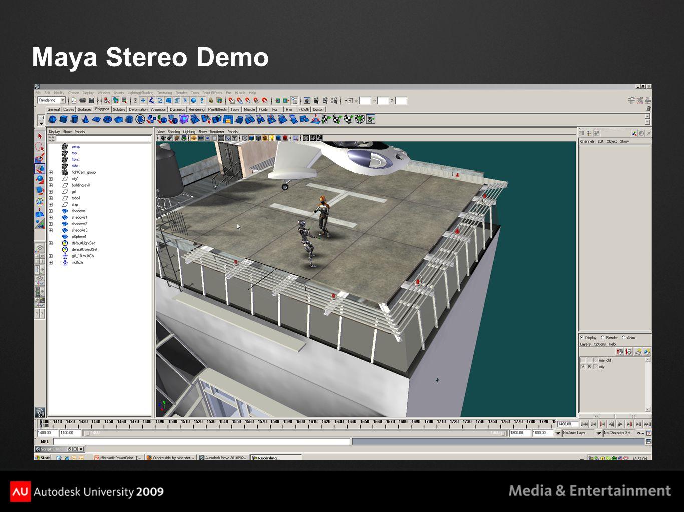 Maya Stereo Demo