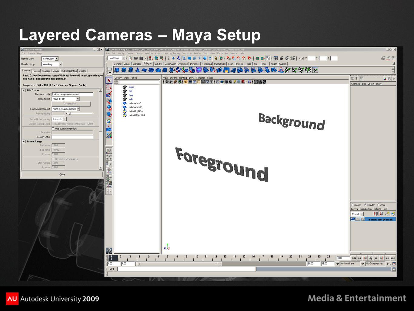Layered Cameras – Maya Setup