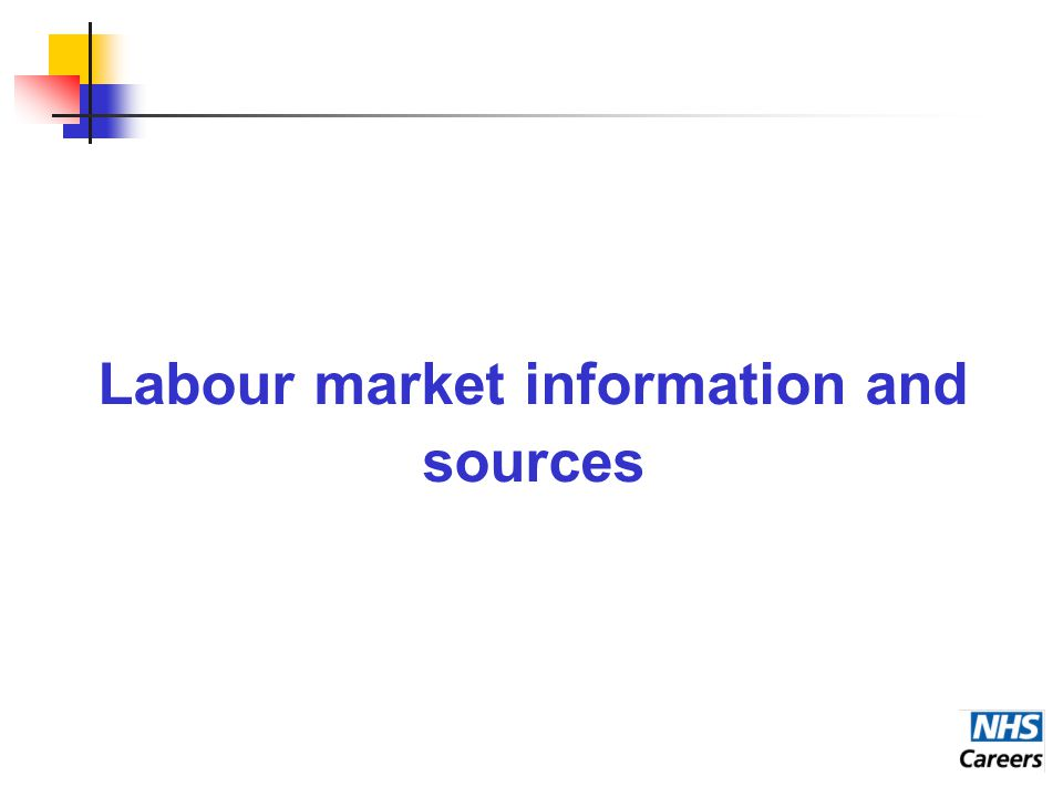 Labour market information and sources