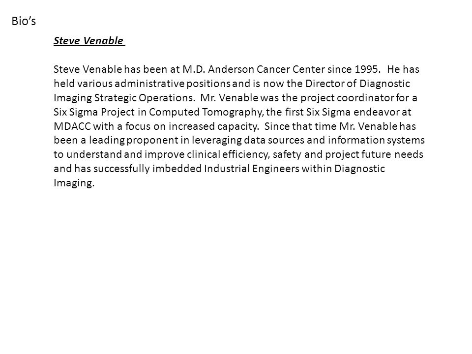 Steve Venable has been at M.D. Anderson Cancer Center since 1995.