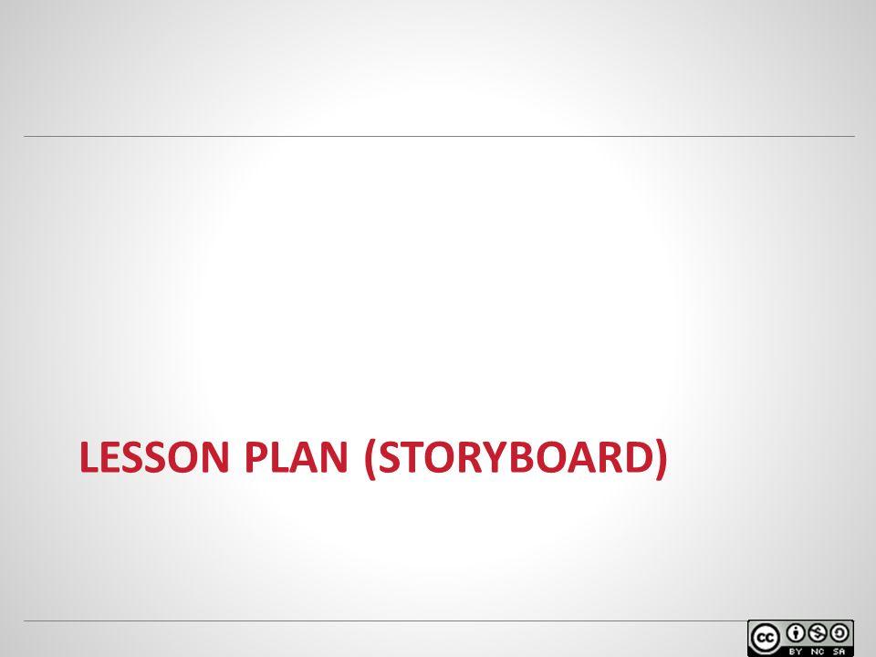 LESSON PLAN (STORYBOARD)