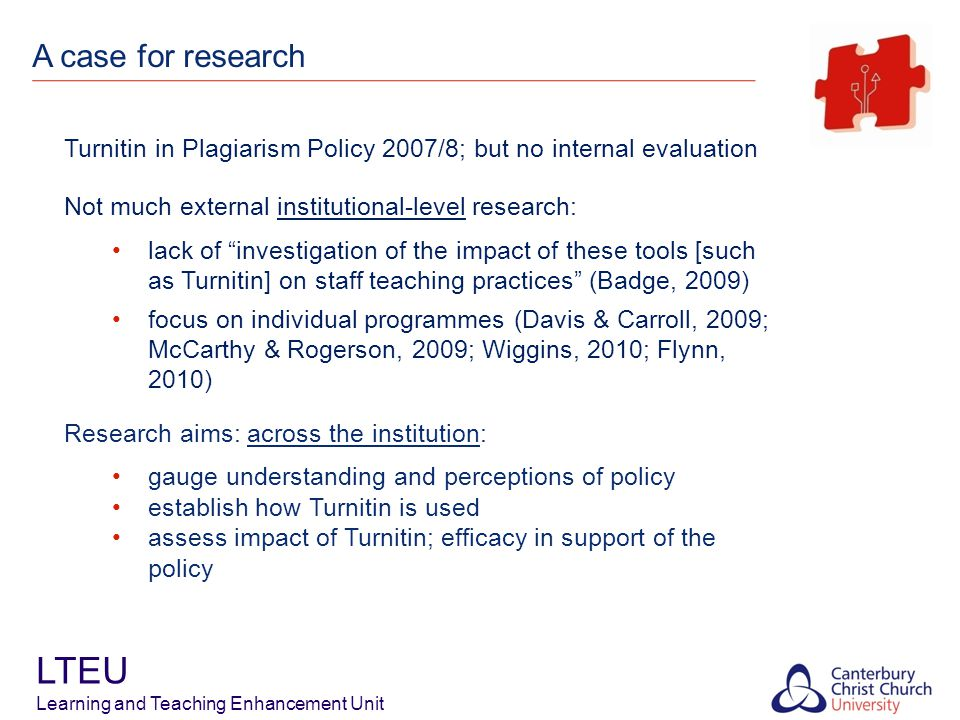 Findings – Use of Turnitin LTEU Learning and Teaching Enhancement Unit Strategies for Using Turnitin (as proportion of programmes analysed) Note: % programmes approximated.