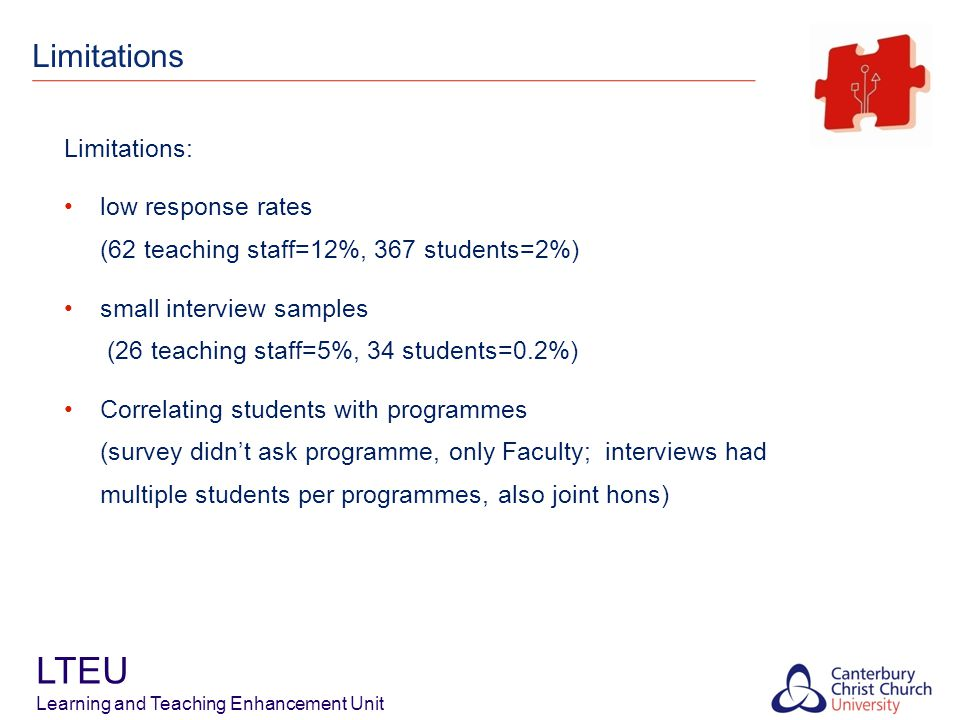 LTEU Learning and Teaching Enhancement Unit Findings perceptions and values