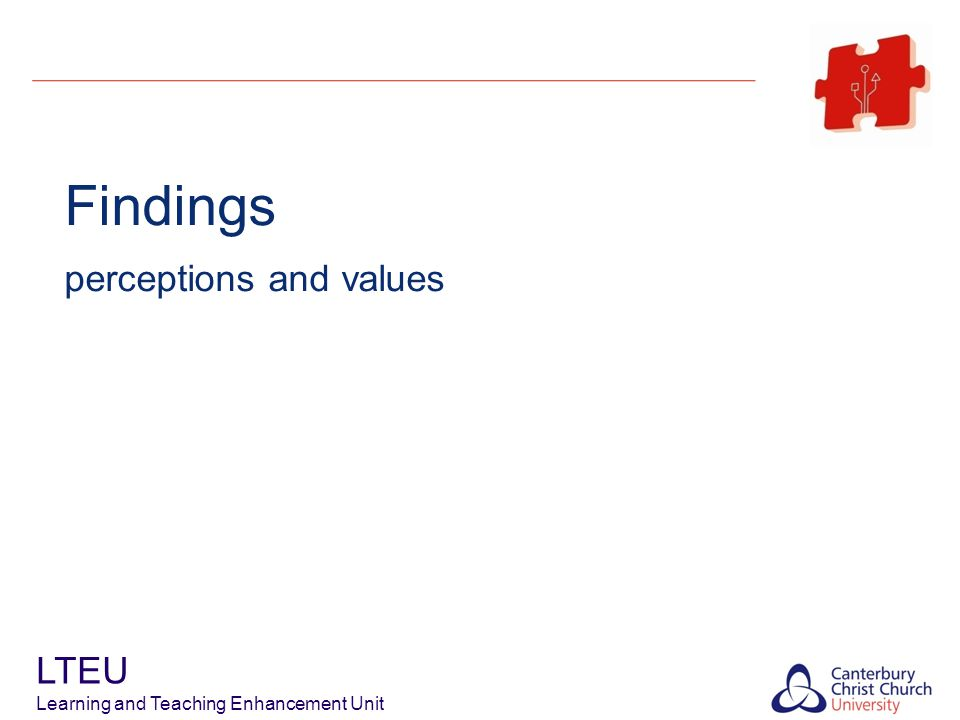 Findings – What do STAFF PERCEIVE.