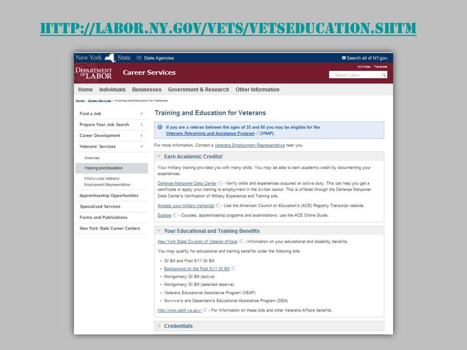 http://labor.ny.gov/vets/vetseducation.shtm