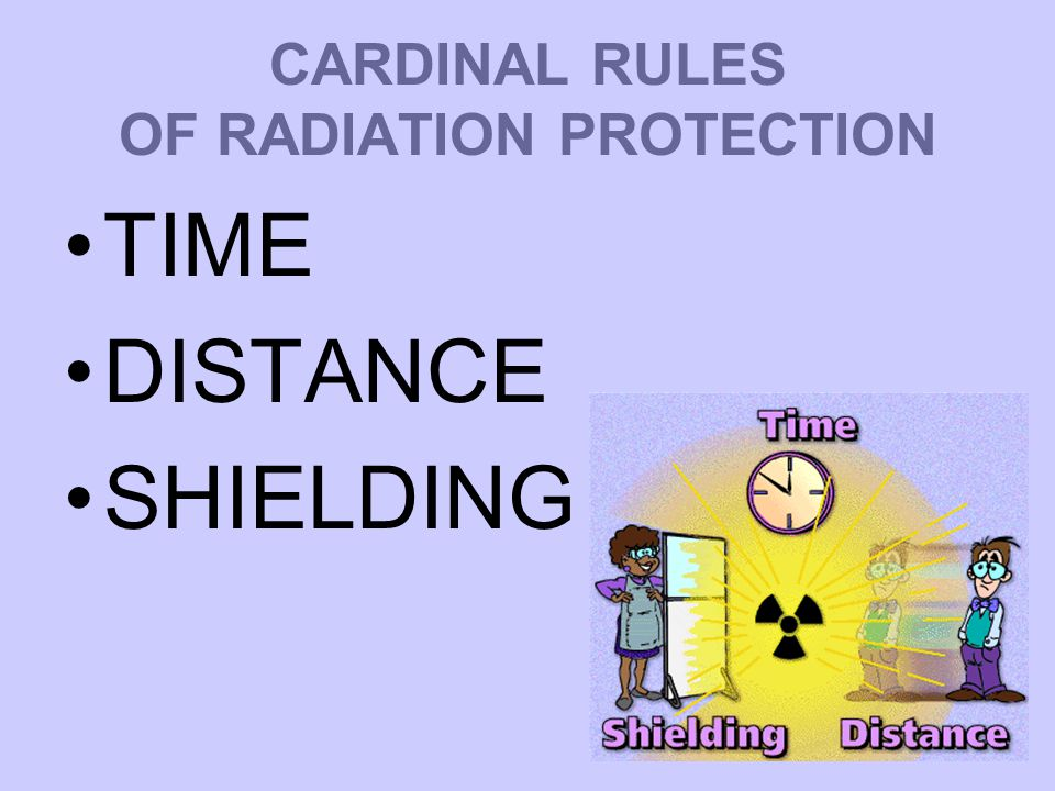 CARDINAL RULES OF RADIATION PROTECTION TIME DISTANCE SHIELDING