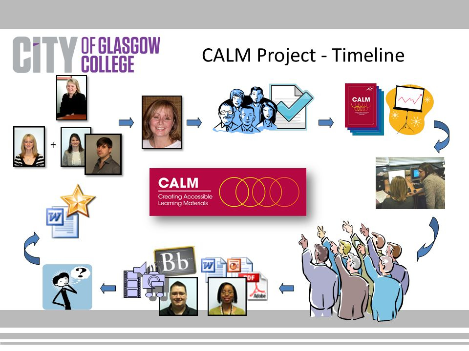CALM Project - Timeline +