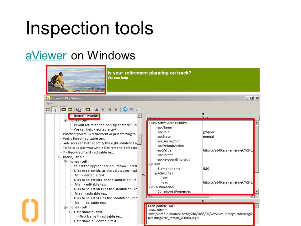 Inspection tools aVieweraViewer on Windows