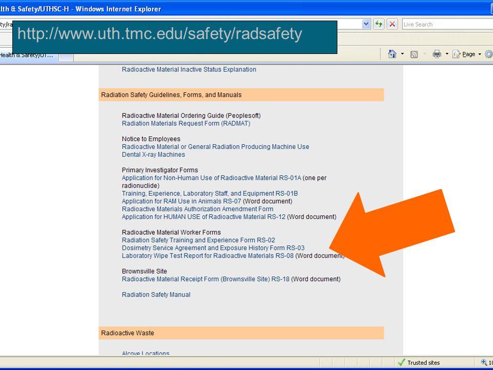 http://www.uth.tmc.edu/safety/radsafety