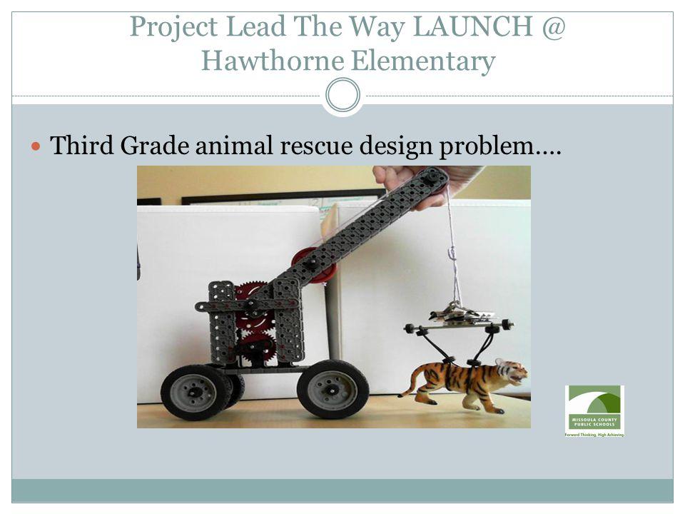 Third Grade animal rescue design problem….