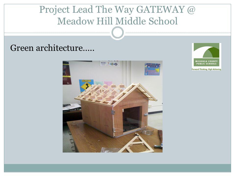Green architecture…..