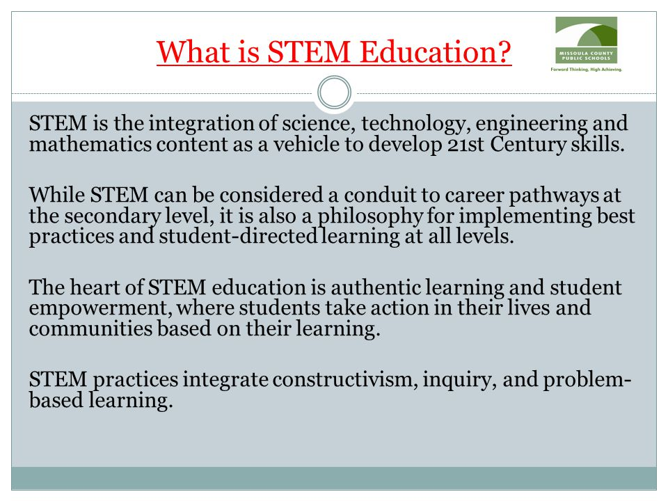 What is STEM Education.