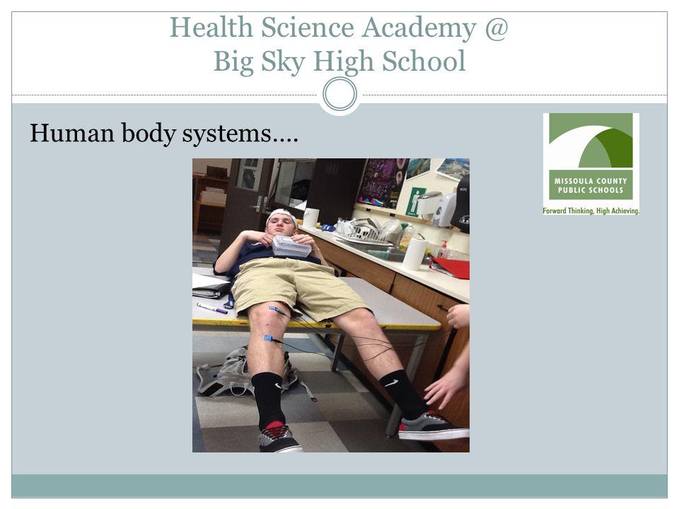 Health Science Academy @ Big Sky High School Human body systems….