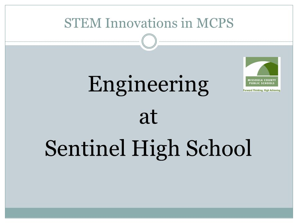 STEM Innovations in MCPS Engineering at Sentinel High School