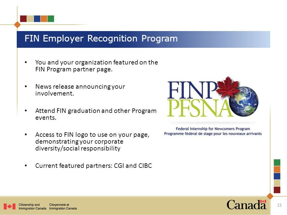 You and your organization featured on the FIN Program partner page.
