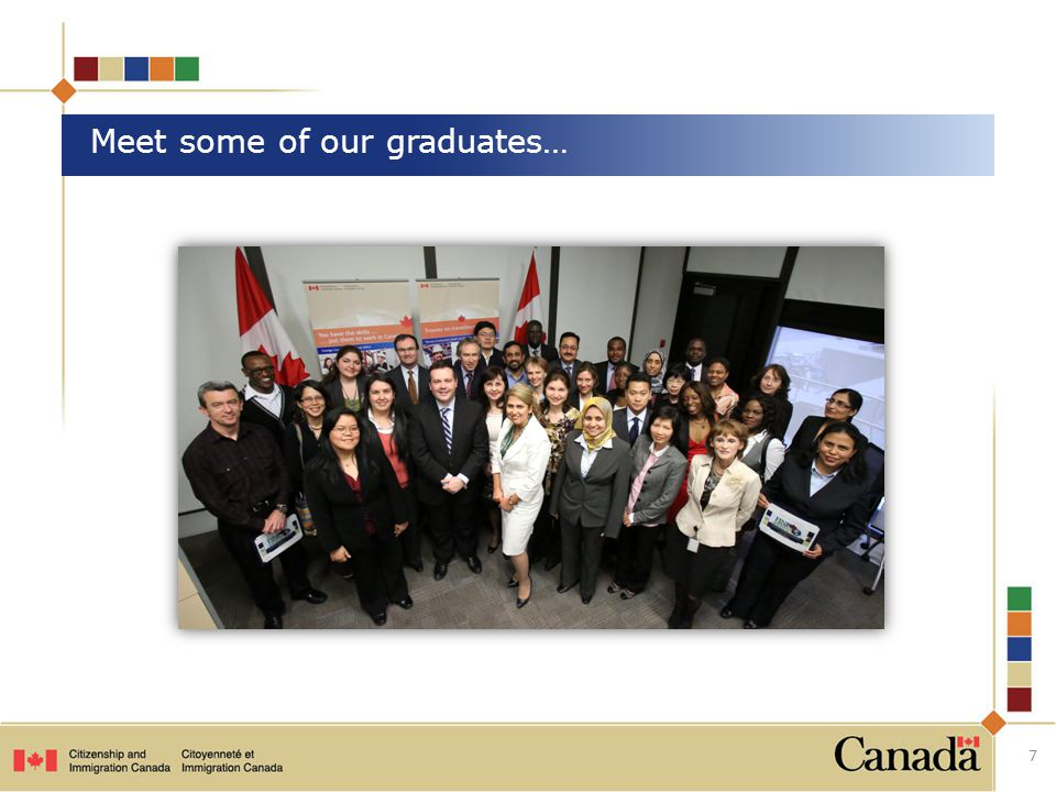 Meet some of our graduates… 7