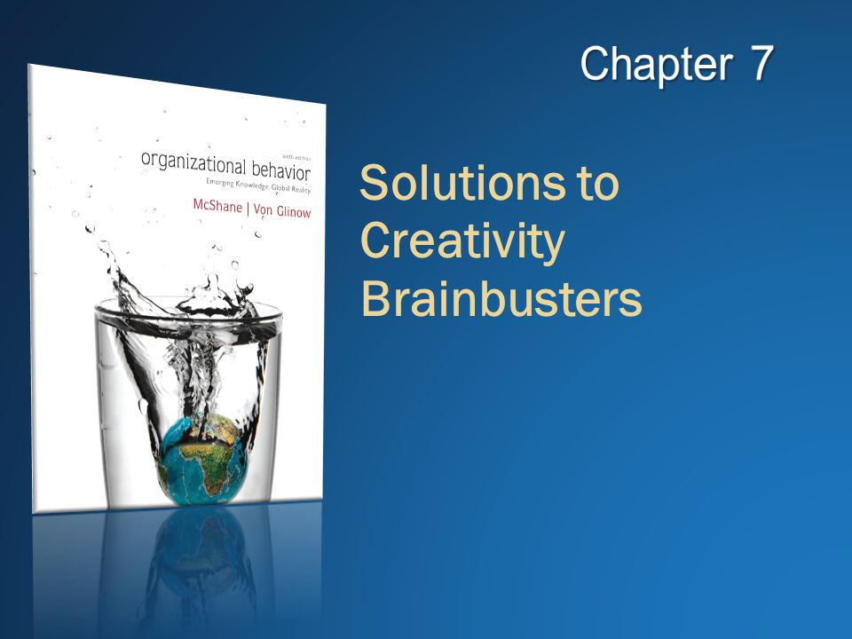 Solutions to Creativity Brainbusters
