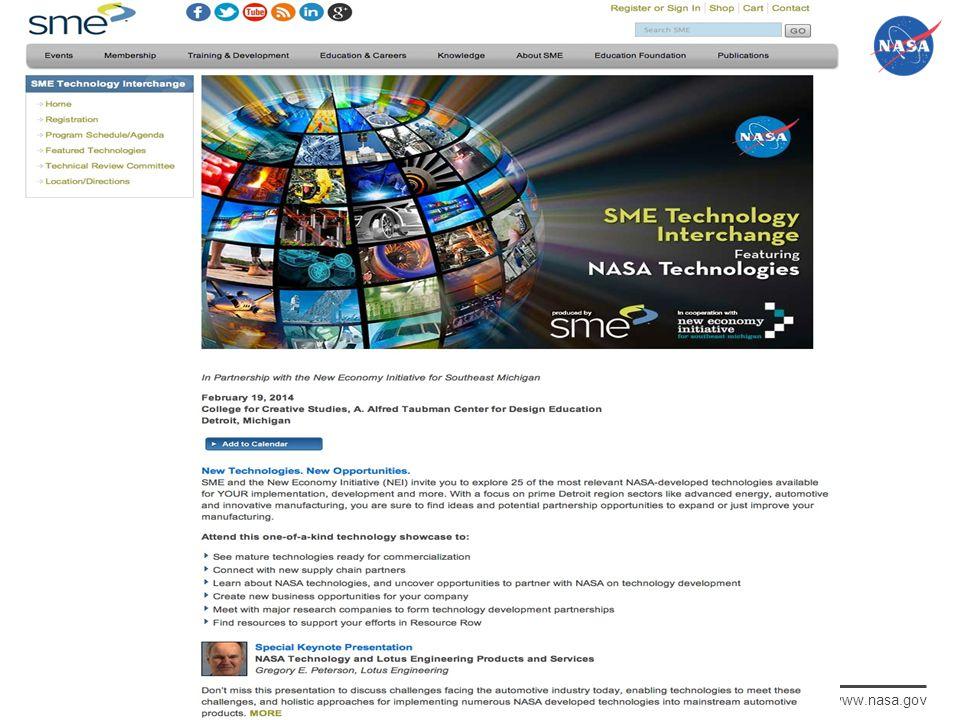 National Aeronautics and Space Administration www.nasa.gov