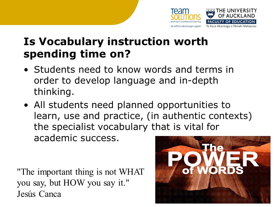 Is Vocabulary instruction worth spending time on.