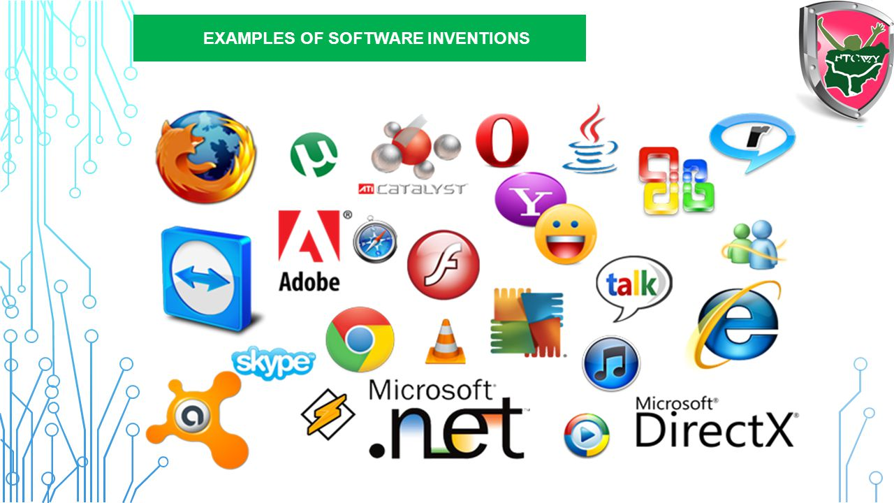 Inventions in ICT: SOFTWARE  UNIX Operating System  Microsoft Windows  Android OS  Solary  Hadoop  Microsoft Office  Oracle database  Adobe cr