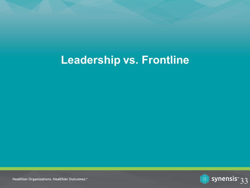 Leadership vs. Frontline 33