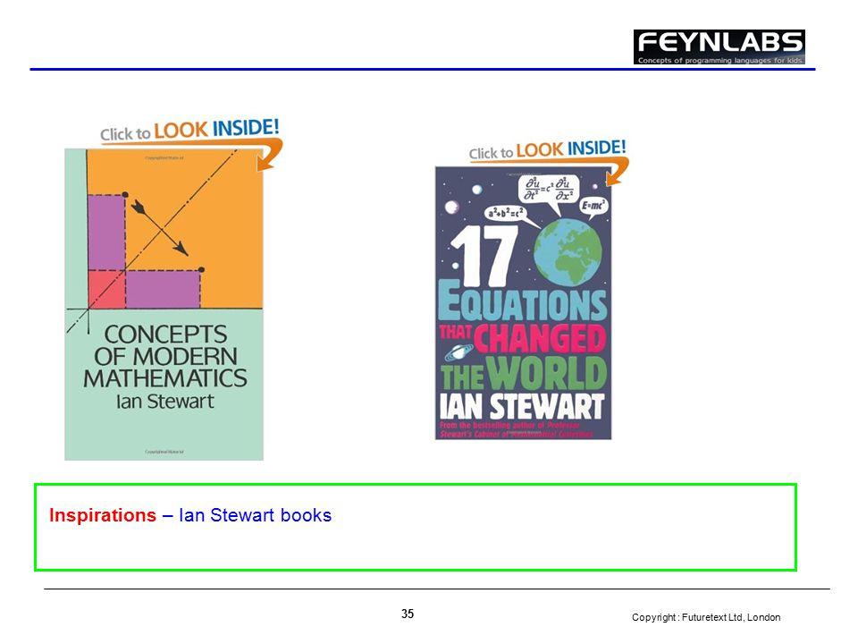 Copyright : Futuretext Ltd, London 35 Inspirations – Ian Stewart books