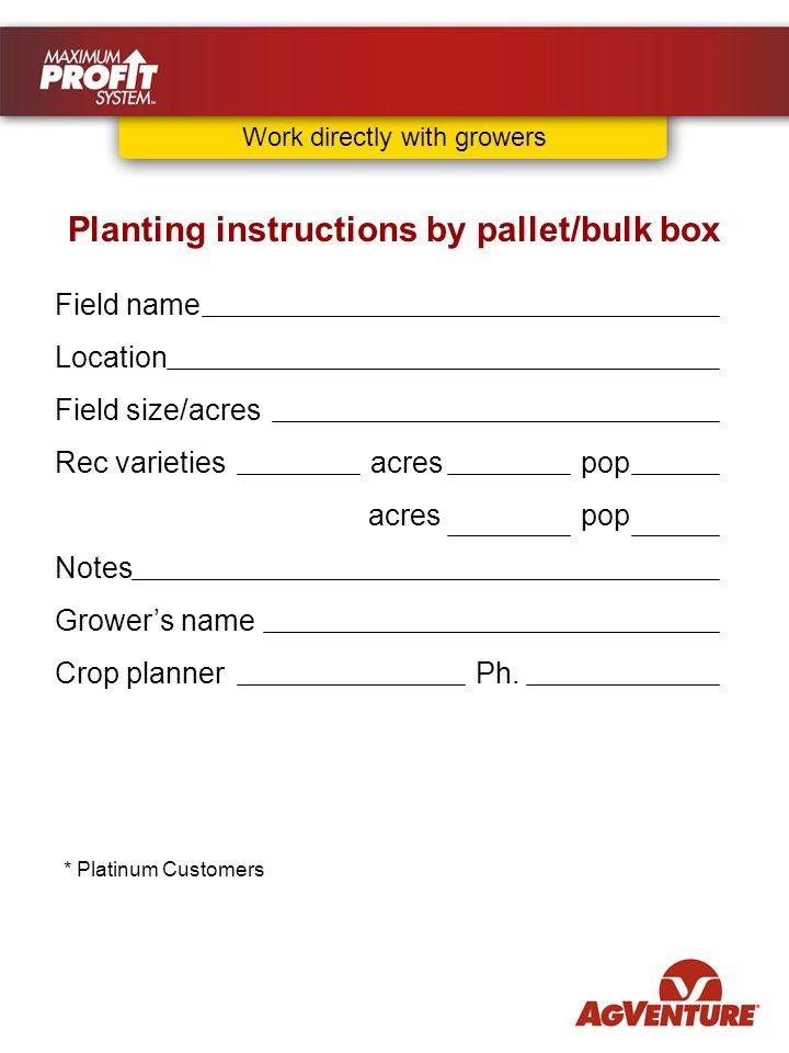 Field name Location Field size/acres Rec varietiesacrespop acrespop Notes Grower's name Crop plannerPh.