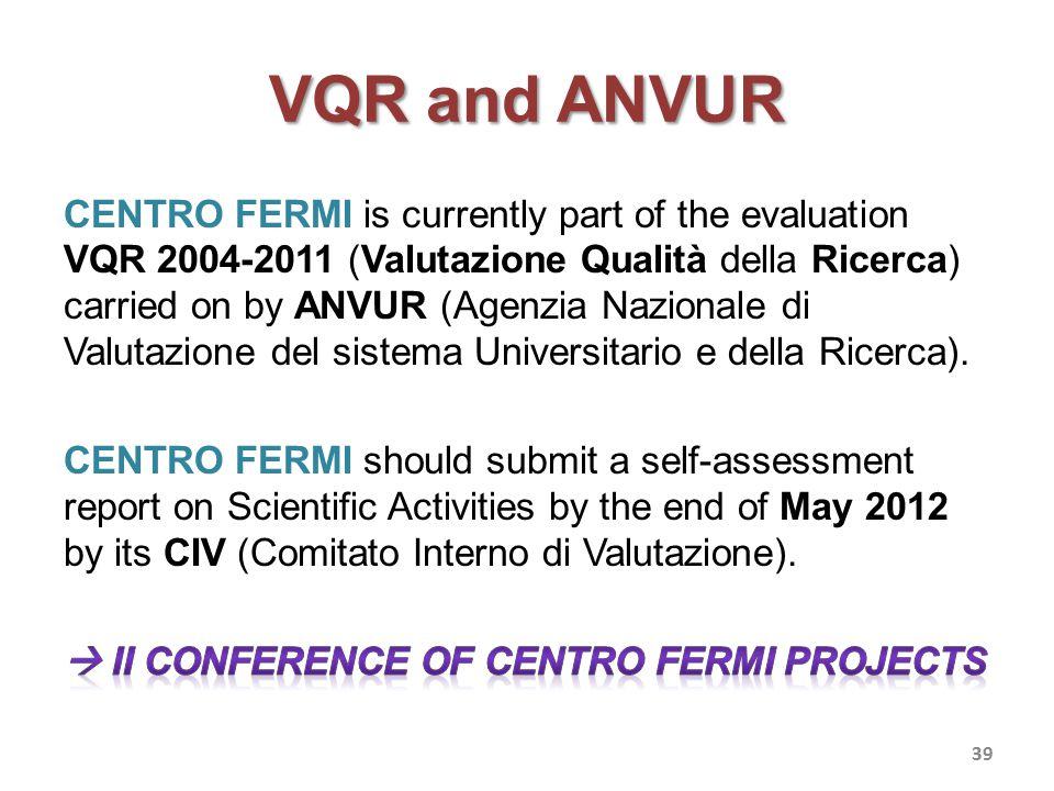 VQR and ANVUR 39