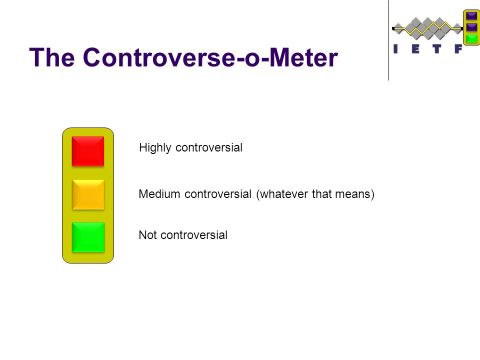 The Controverse-o-Meter Highly controversial Medium controversial (whatever that means) Not controversial