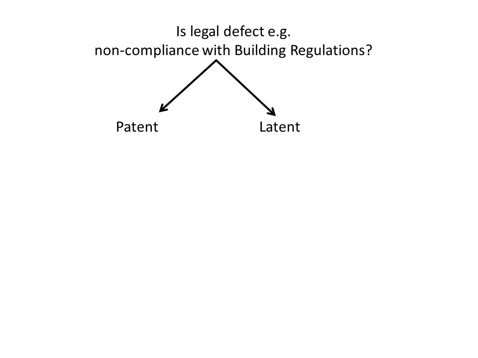 Is legal defect e.g. non-compliance with Building Regulations? PatentLatent
