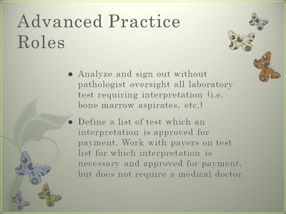 Advanced Practice Roles