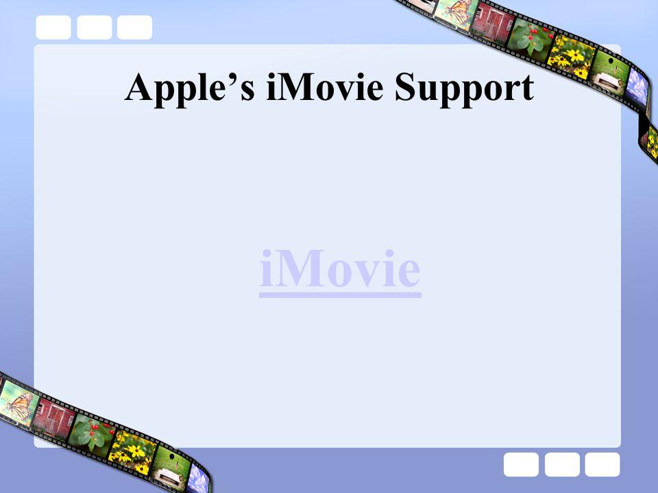 Apple's iMovie Support iMovie