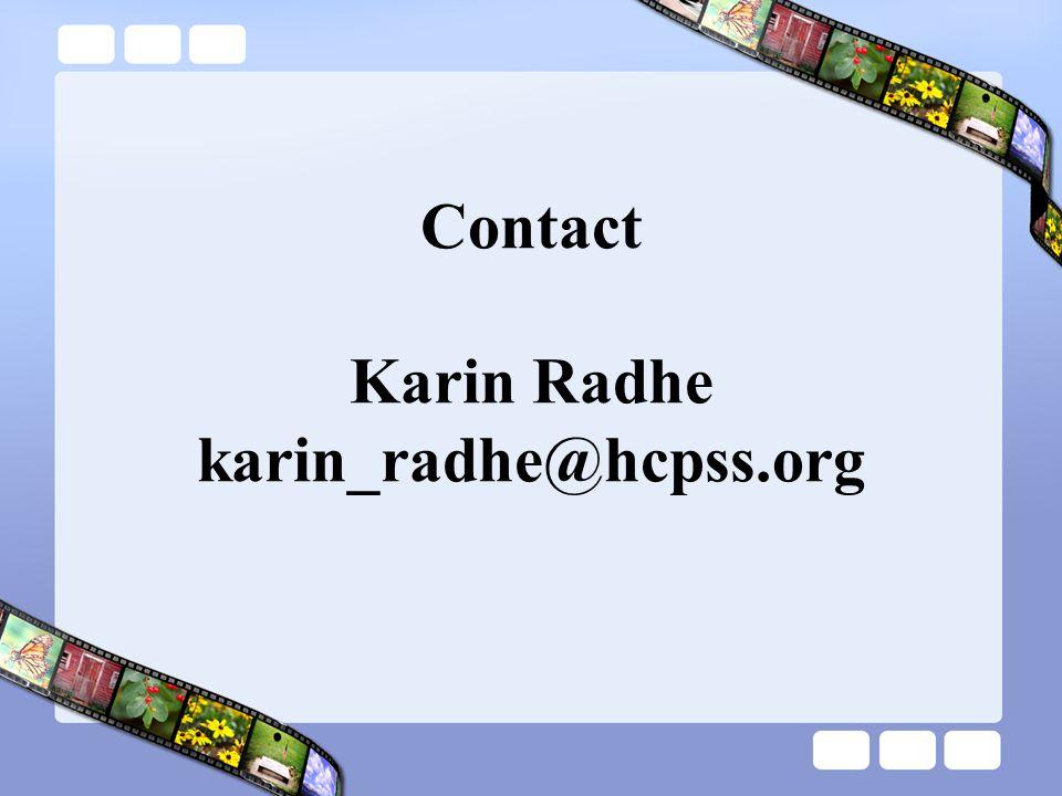 Contact Karin Radhe karin_radhe@hcpss.org